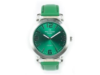 Sport, sportliche Unisex-Armbanduhr grün, mit Echtlederband