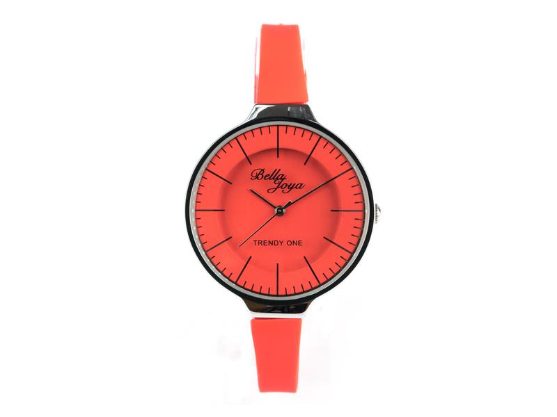 Trendy One, formschöne Modeuhr, rot