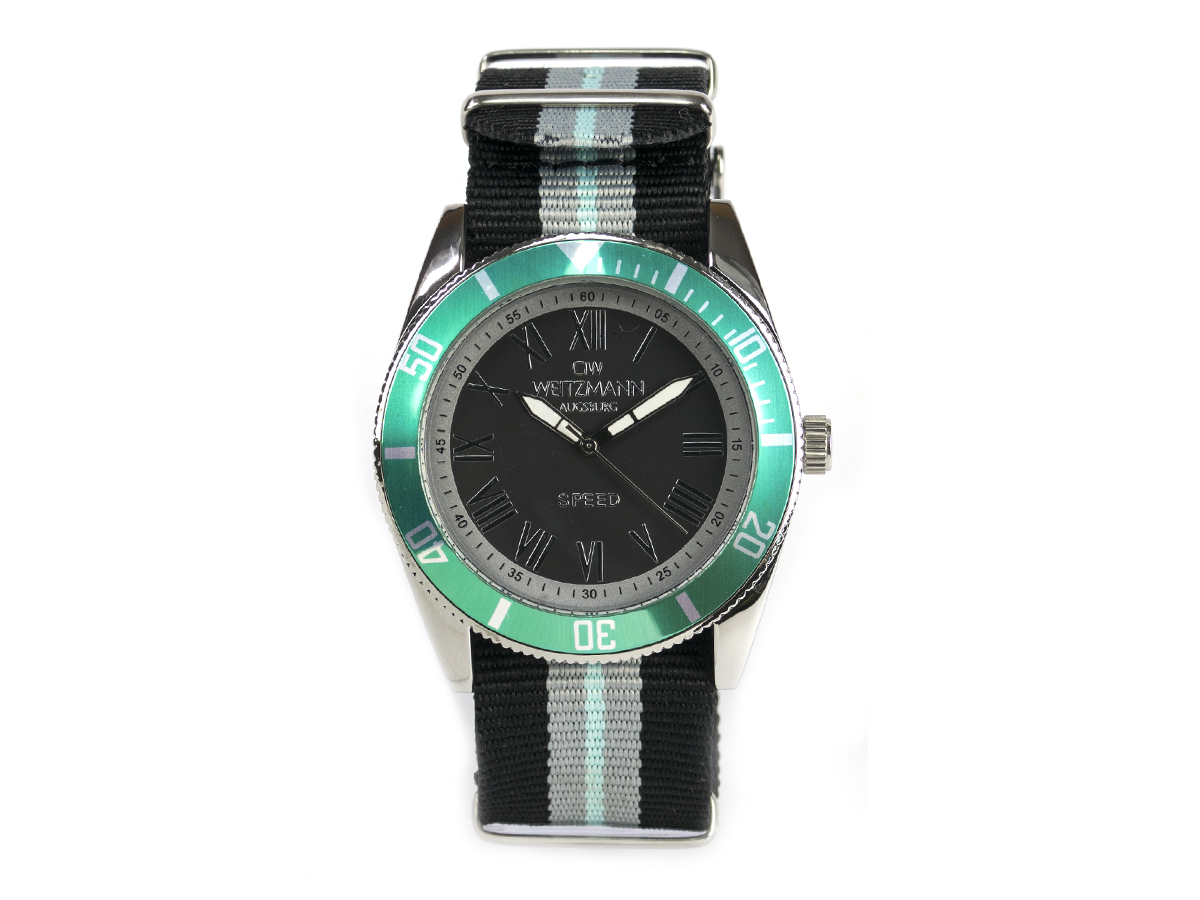 Speed striped natoband, mint bezel