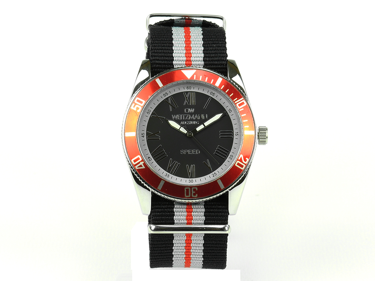 Speed striped natoband, red bezel