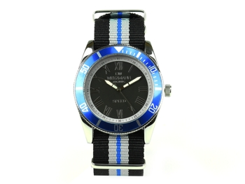 Speed striped natoband, blue bezel