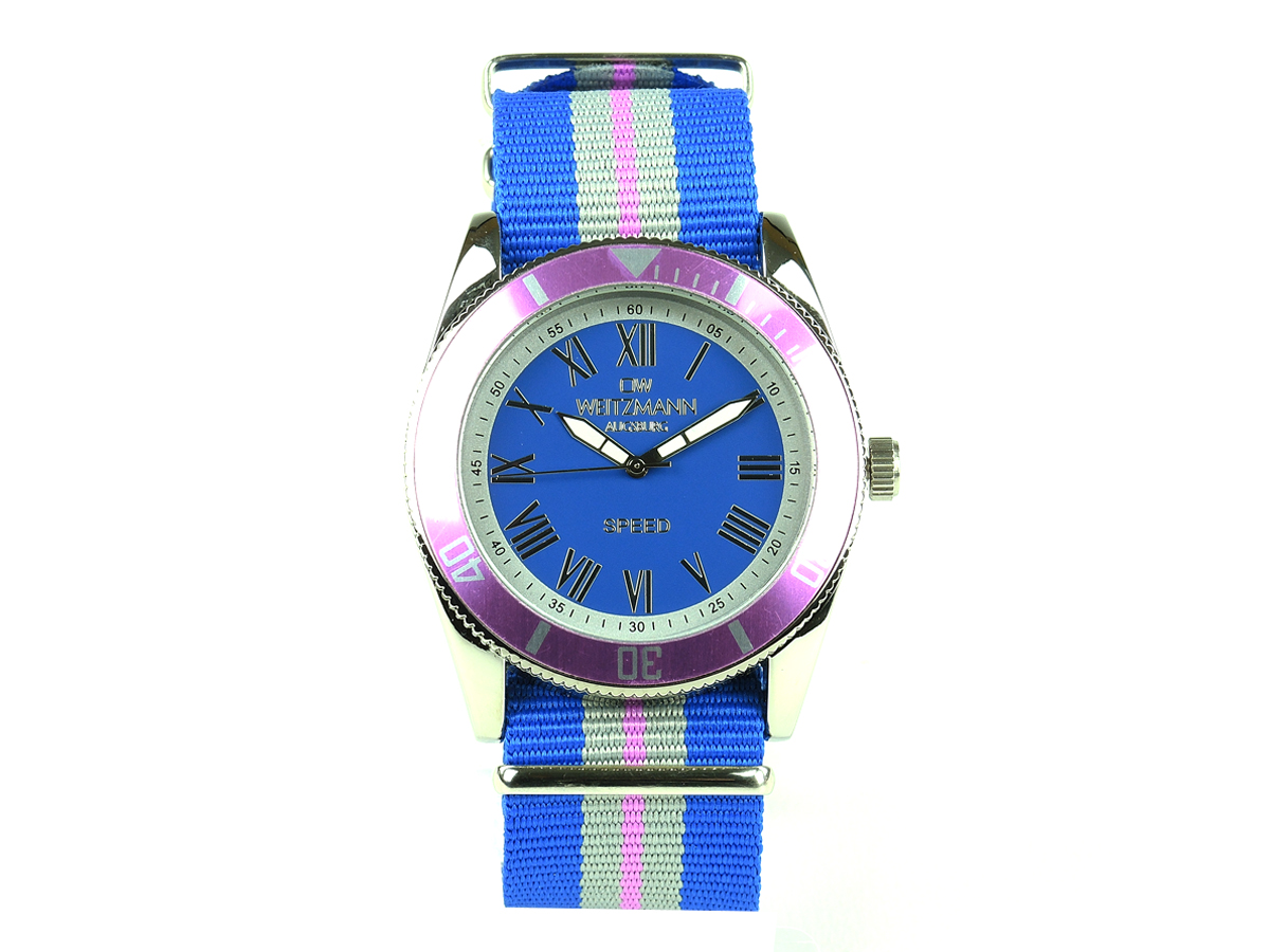 Speed striped natoband, pink bezel