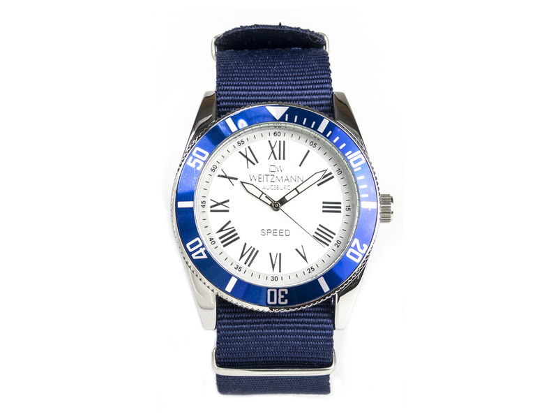 Speed, aktuelle Unisex Armband-Uhr, unifarbenes Natoband dunkelblau
