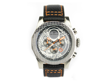 Thor silver, orange pointer, buffalo leather strap