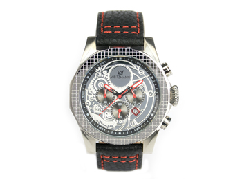 Thor silver, red pointer, buffalo leather strap