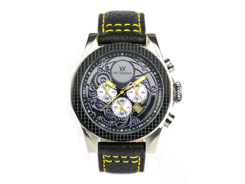 Thor black, yellow pointer, buffalo leather strap