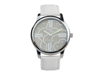 Ladies watch, Florenz, white leather strap