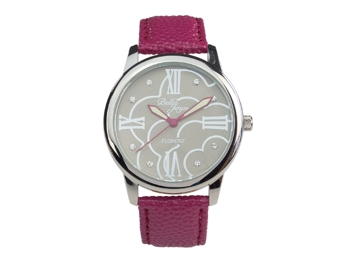 Ladies watch, Florenz, purple leather strap
