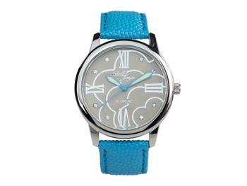 Ladies watch, Florenz, blue leather strap