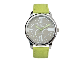 Ladies watch,Florenz, green leather strap