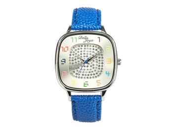 Capri, modische Trend-Uhr, Echtlederband blau