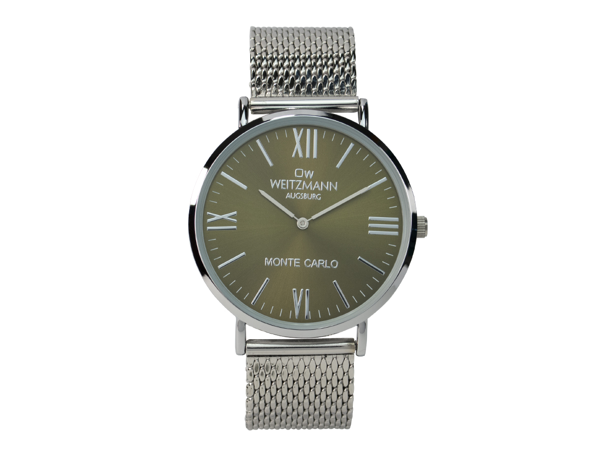 Monte Carlo olive, milanaise mesh band