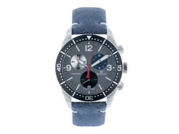 Laptimer 10 black, leather strap