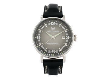 Retro silver/black, leather strap