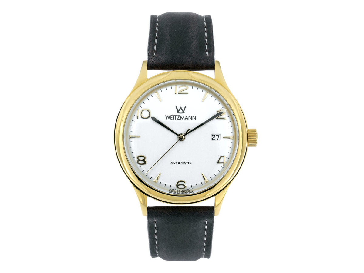 Jazz white, leather strap