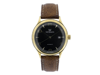 Jazz black, leather strap
