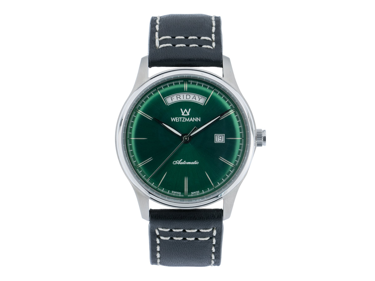 Sublime green, leather strap