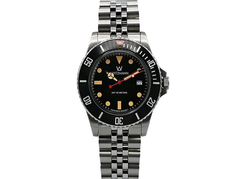 Atlantik black, stainless steel bracelet