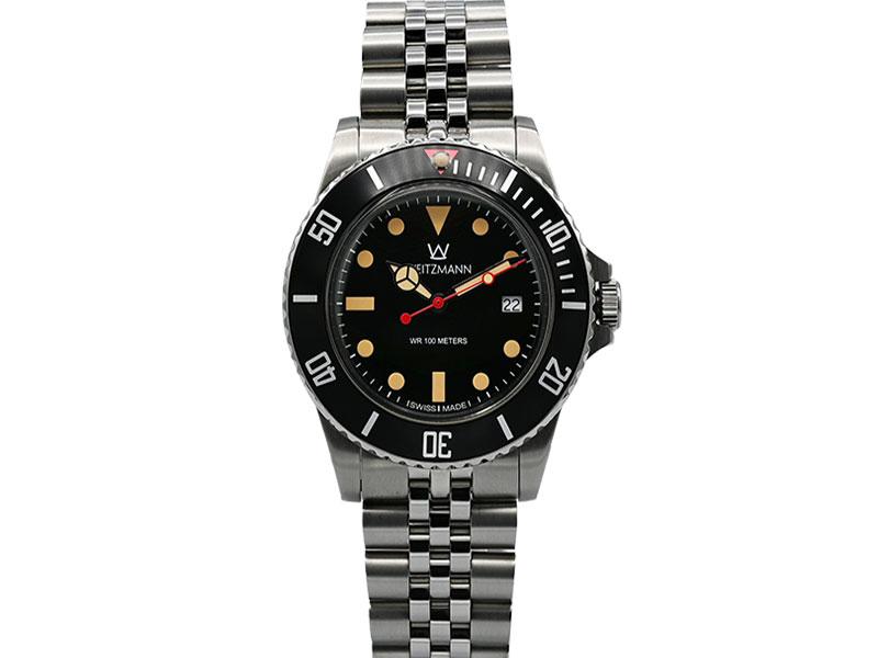 Atlantik schwarz, Edelstahl-Armband