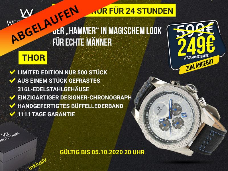 Thor silb./blau Aktionspreis bis 05.10.2020 20 Uhr