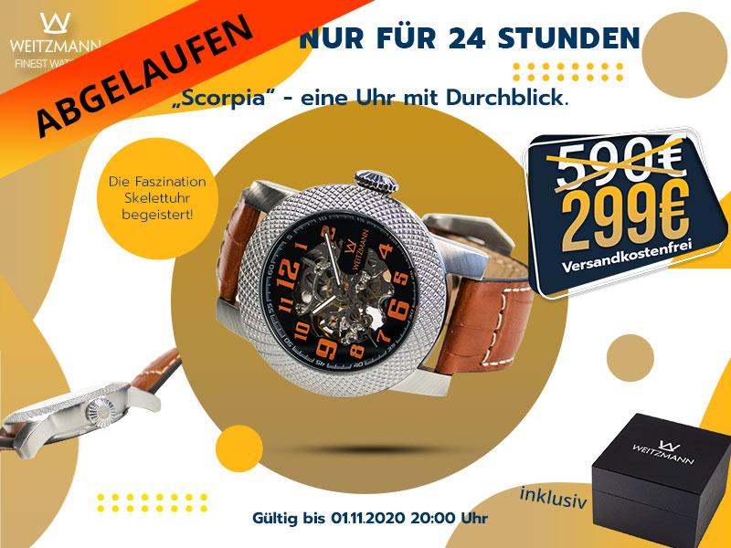 Scorpia silber/orange - gültig bis 01.11.2020 20 Uhr