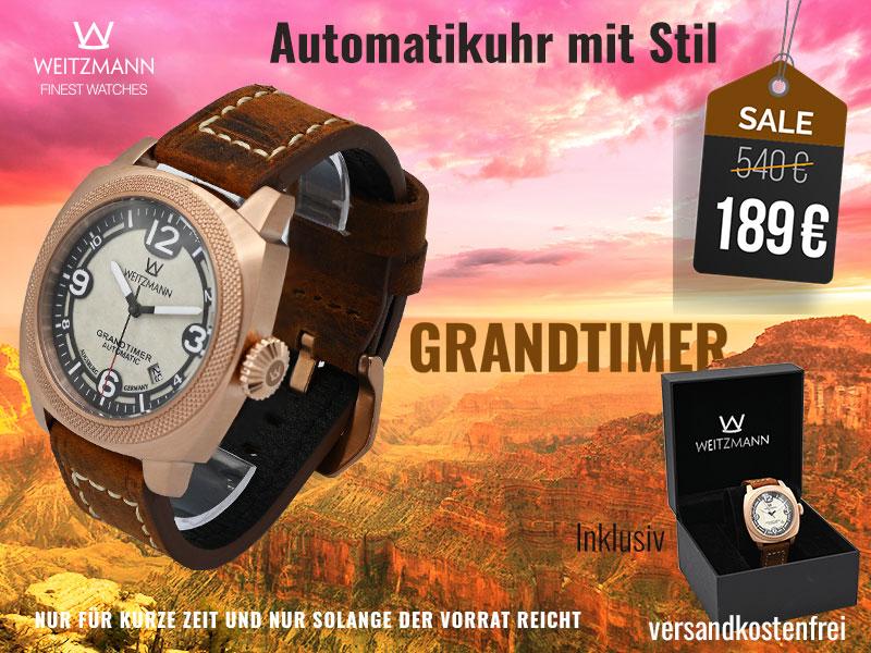 Grandtimer rotgold - SUPERDEAL